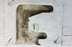 Typografie inspiratie, letter F