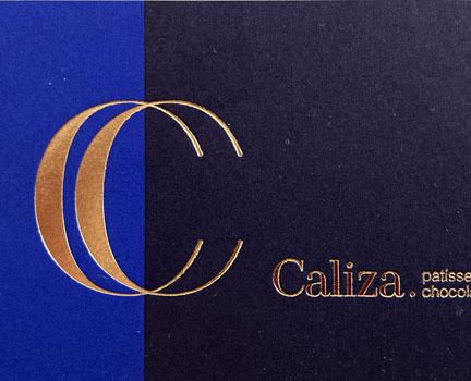 Caliza patisserie-chocolaterie logo huisstijl
